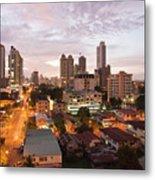 Panama City At Night Metal Print