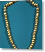Panama: Gold Beads, C1000 Metal Print