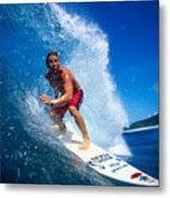 Pancho Makes The Wave Metal Print by Vince Cavataio - Printscapes
