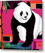 Panda Abstrack Color Vision  Metal Print
