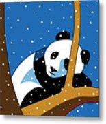 Panda at Peace Metal Print