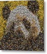 Panda Coin Mosaic Metal Print