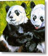 Panda Date Metal Print by Susan A Becker