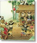 Pandabears Christmas 03 Metal Print by Kestutis Kasparavicius