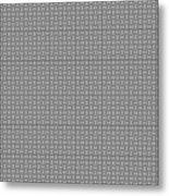 Pandora's Puzzle Greys Metal Print
