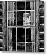 Panes To The Past Metal Print