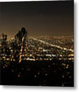 Pano From Griffeth Observatory  Metal Print