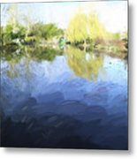 Panorama 2 Of Monets Garden In Giverny Metal Print