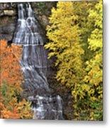 Panorama Fall Color Chapel Falls Upper Penninsula Mi Metal Print