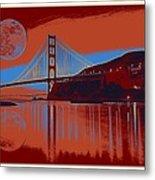 Panorama Golden Gate Bridge Landmark 2 Metal Print