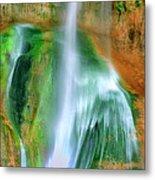 Panorama Lower Calf Creek Falls Escalante Nm Utah Metal Print