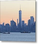 Panorama New York City Skyline At Sunrise Metal Print