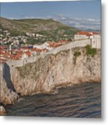 Panorama Of Dubrovnik, Croatia, In The Afternoon Metal Print