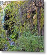 Panorama Of Gorman Falls At Colorado Bend State Park - Lampasas Texas Hill Country Metal Print