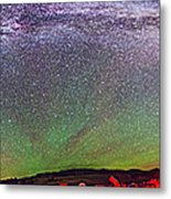 Panorama Of Milky Way Above The Table Metal Print