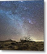 Panorama Of Milky Way And Zodiacal Metal Print