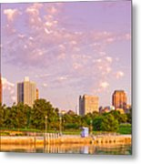 Panorama Of South Side Of Chicago Skyline And One Museum Park From Shedd Aquarium - Chicago Illinois Metal Print