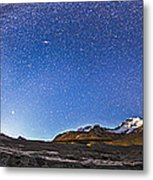 Panorama Of The Columbia Icefields Metal Print