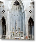 Panorama Of The Main Altar Of St. John The Evangalist Roman Catholic Church Schenectady Metal Print