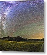 Panorama Of The Milky Way And Night Sky Metal Print