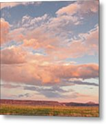 Panorama Of Twilight Clouds Over Tetilla Peak Recreation Area - Cochiti Lake New Mexico Metal Print