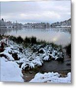 Panorama Of Winter Lake Metal Print