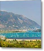 Panorama On Greek Island Metal Print