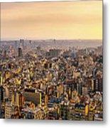 Panoramic Barcelona Metal Print