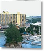 Panoramic Coast Metal Print