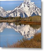 Panoramic Reflections At Oxbow Metal Print