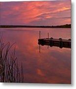 Panoramic Sunset Northern Lake Metal Print