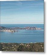 Panoramic View Across Calvi Bay And Revellata In Corsica Metal Print