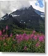 Panoramic View Of 'going To Sun Road' Metal Print