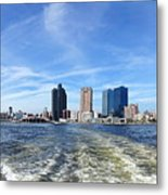 Panoramic View Of Kaohsiung City Waterfront Metal Print