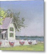Panoramic View Of Marblehead Lighthouse Metal Print