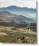 Panoramic View Of Monte Grosso And The Mountains Of Corsica Metal Print