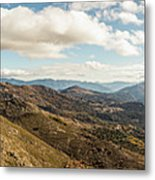 Panoramic View Of Olmi Cappella Valley With In Corsica Metal Print