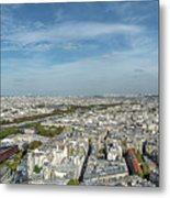 Panoramic View Of Paris From The Top Of The Tower Metal Print