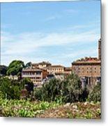 Panoramic View Of Rome Metal Print