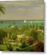 Panoramic View Of The Harbour At Nassau In The Bahamas Metal Print by Albert Bierstadt