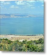 Panoramic View Of The Sea Of Galilee Metal Print