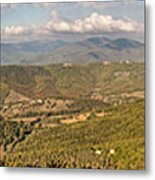 Panoramic View Of Umbrian Hills In Italy Taken From Preggio Metal Print
