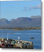 Panoramic View Roundstone Harbour Metal Print