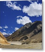 Panrama Of Mountains Ladakh Jammu And Kashmir India Metal Print
