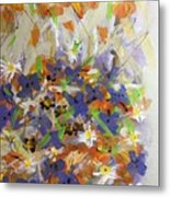 Pansies And Lillies Metal Print