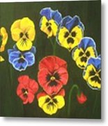 Pansy Lions Too Metal Print