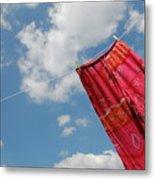 Pant Hanging On Washing Line Metal Print