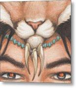 Panther Warrior Metal Print