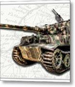 Panzer Tiger I Side Metal Print