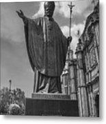 Papa Juan Pablo II - Mexico City Byn Metal Print
